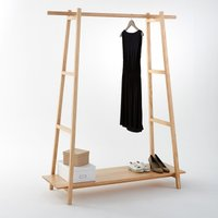 Uyen Scandi-Style Ladder Clothes Rack in Solid Pine