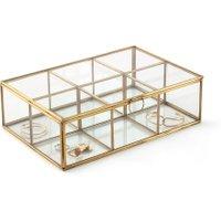 Uyova Glass & Metal Multi-Compartment Box