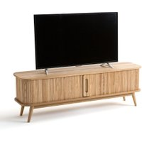 Wapong TV Stand with Sliding Doors