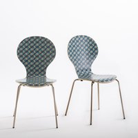 Set of 2 Watford Stackable Patterned Chairs