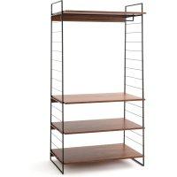 Watford Wide Walnut/Metal Wardrobe & Shelf Module