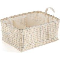 Acao Multi Storage Basket with Check Print