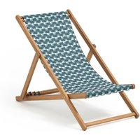 Amezza Acacia & Canvas Deck Chair
