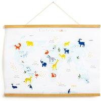 Animalia Kakemono World Map with Animals