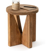 Asayo Solid Pine End Table