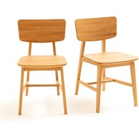 Aya Solid Oak Vintage Style Chairs (Set of 2)