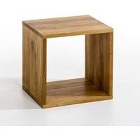 Box Oak Storage Cube