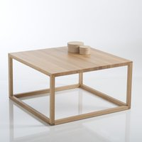 Crueso Scandi-Style Cube Coffee Table in Solid Oak