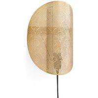 Douwi Perforated Golden Wall Light