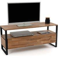Hiba Solid Oak & Steel TV Unit