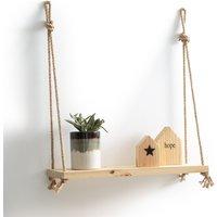 Mareo Pine & Rope Hanging Wall Shelf
