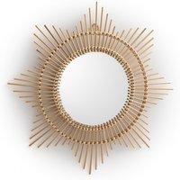 Nogu Curved Sunburst Bamboo Mirror