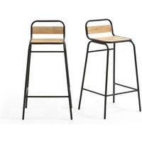 Set of 2 Hiba High Garden Chairs