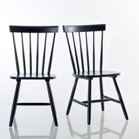 Set of 2 Jimi Solid Wood Spindle-Back Chairs