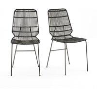 Set of 2 Malu Chairs in Woven Kubu