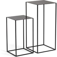 Set of 2 Romy Nesting Side Tables in Lacquered Metal
