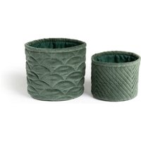 Set of 2 Veloudo Quilted Baskets