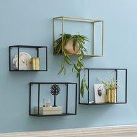 Set of 3 Hiba Metal Shelves