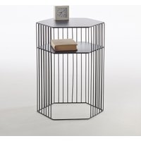 Topim Two-Tier Metal Wire Bedside Table