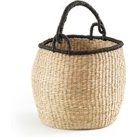 Zac Round Bell Basket in Woven Seagrass
