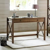 Derry Solid Pine Desk with Teak Stain