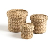 Edel Woven Baskets with Lids (Set of 3)