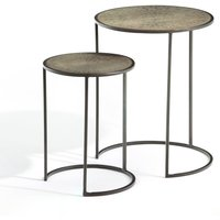 Set of 2 Édric Nesting Side Tables in Brass